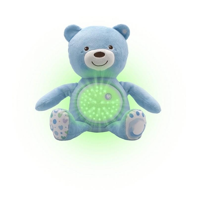 Chicco First Dreams miś z projektorem niebieski 80152