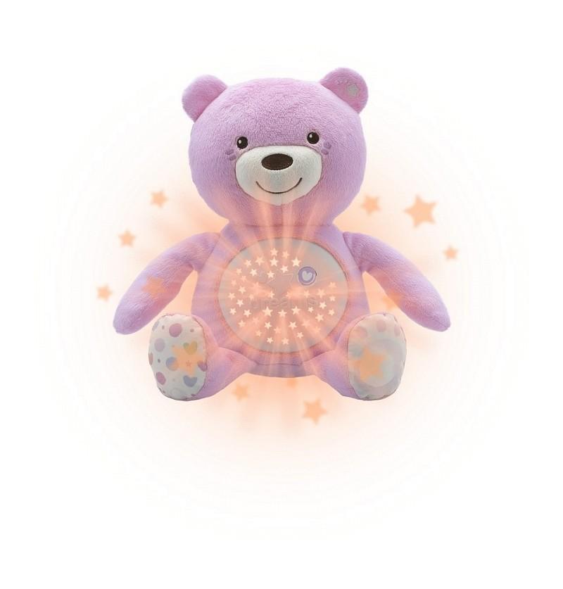 Chicco First Dreams miś z projektorem różowy 80151