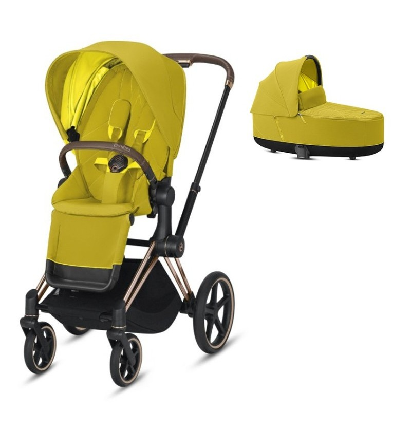 Cybex Priam 2.0 Mustard Yellow Wózek Wielofunkcyjny 3w1