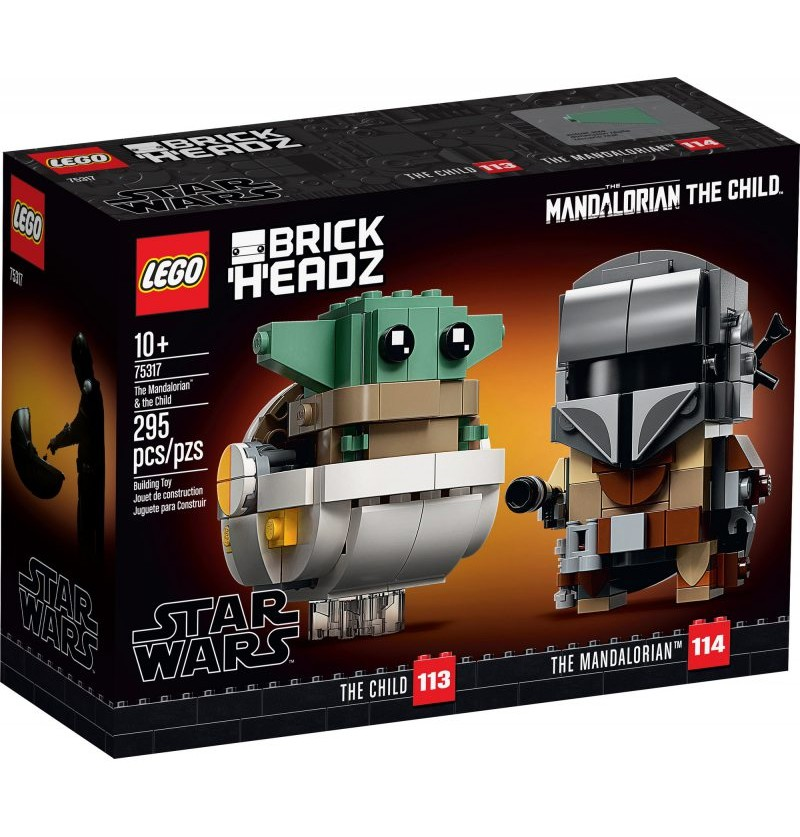 Lego BrickHeadz 75317 Mandalorianin i Dziecko