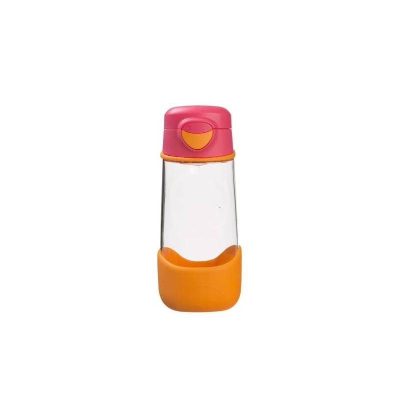 B.box Sportowa butelka tritanowa ze słomką 450 ml Strawberry Shake