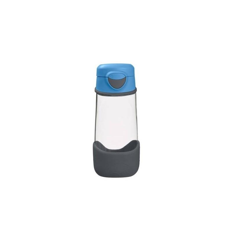 B.box Sportowa butelka tritanowa ze słomką 450 ml Blue Slate