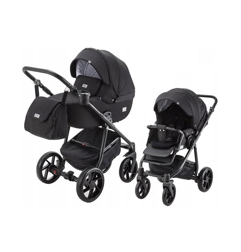 Adamex Hybryd Plus 03 Czarny - Wózek Wielofunkcyjny 2w1