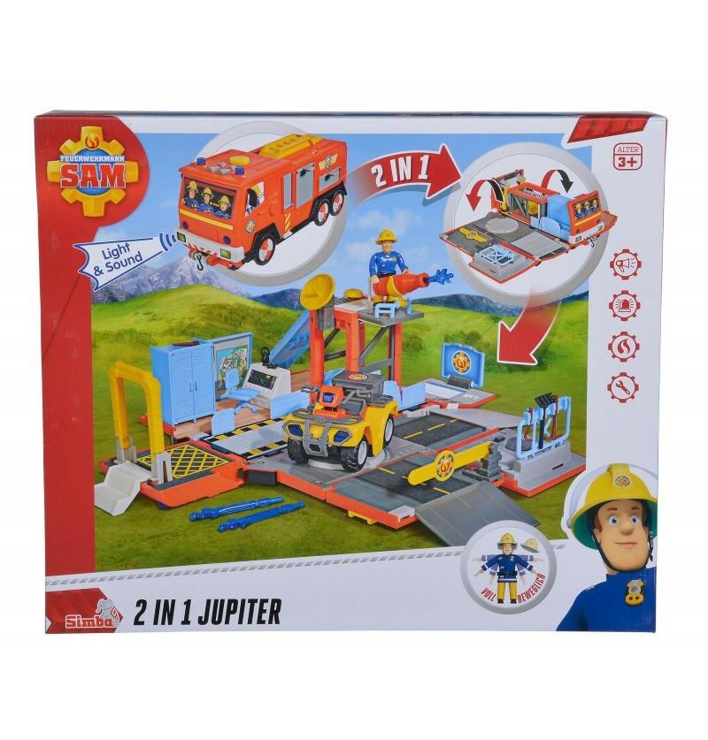 Simba Strażak Sam Jupiter i Stacja Strażacka 2w1 Światło Dźwięk 9251029