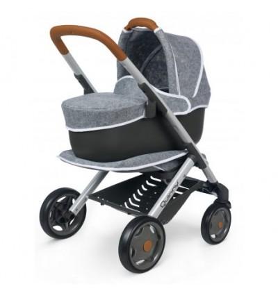 Smoby Maxi-Cosi Quinny Filcowy wózek spacerówka i gondola dla lalek 3w1 253104