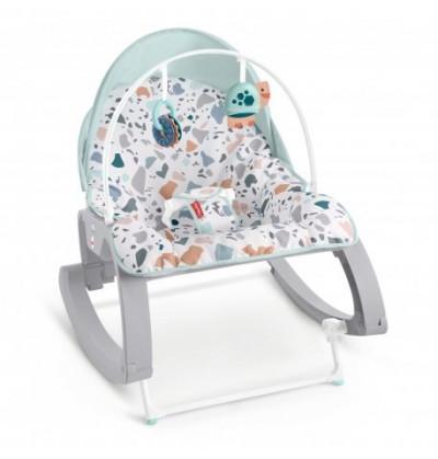 Fisher-Price - Fotelik bujaczek pastelowy 2w1 Od niemowlaka do przedszkolaka GMD21