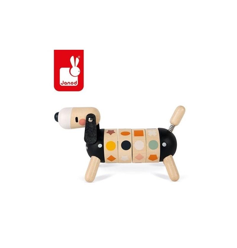Janod J04421 Drewniany Sorter Obrotowy Pies