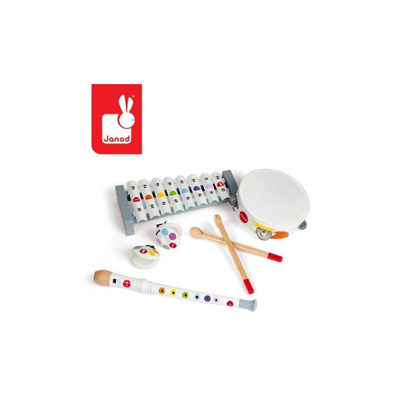 Janod J07600 Zestaw zabawek muzycznych Confetti