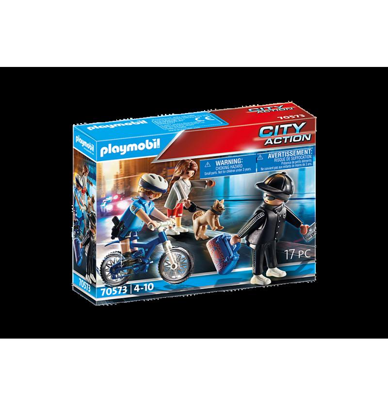 Playmobil 70573 Pościg Rowerem Policyjnym