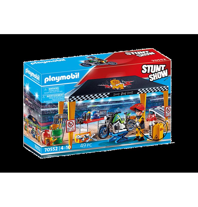 Playmobil 70552 Pokaz Kaskaderski Namiot Serwisowy
