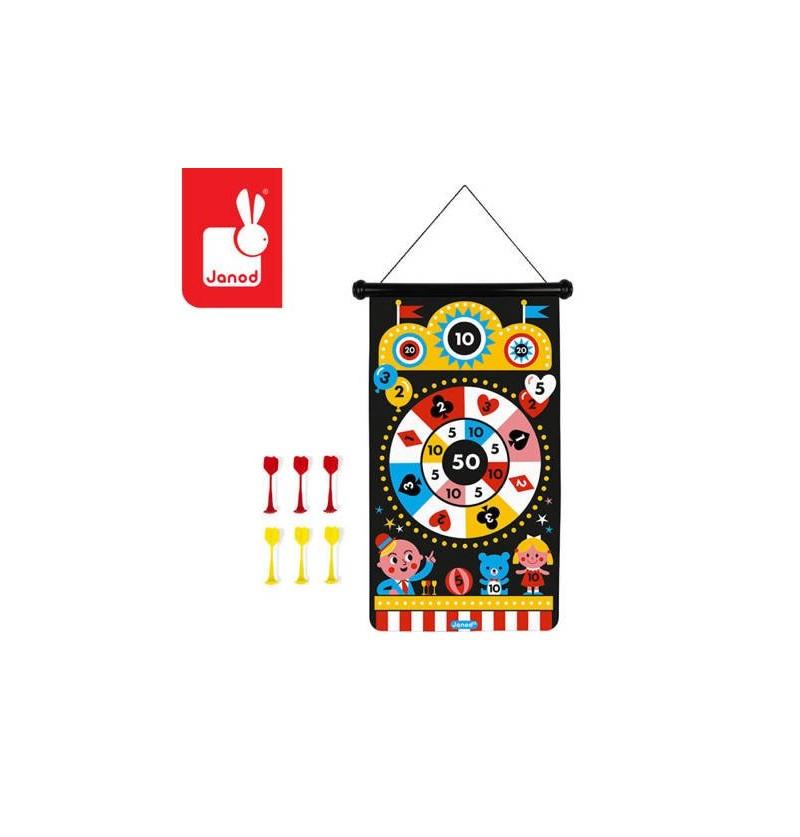 Janod J02083 Magnetyczna Gra Rzutki Wesołe Miasteczko