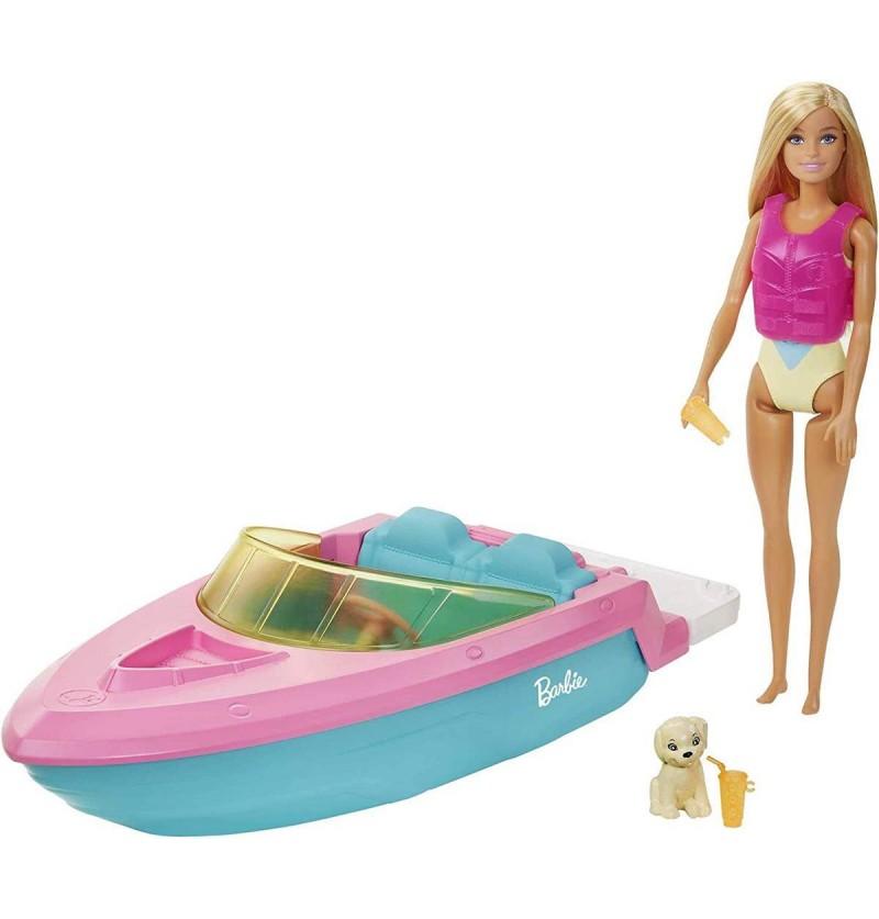 Barbie GRG30 Lalka+Motorówka