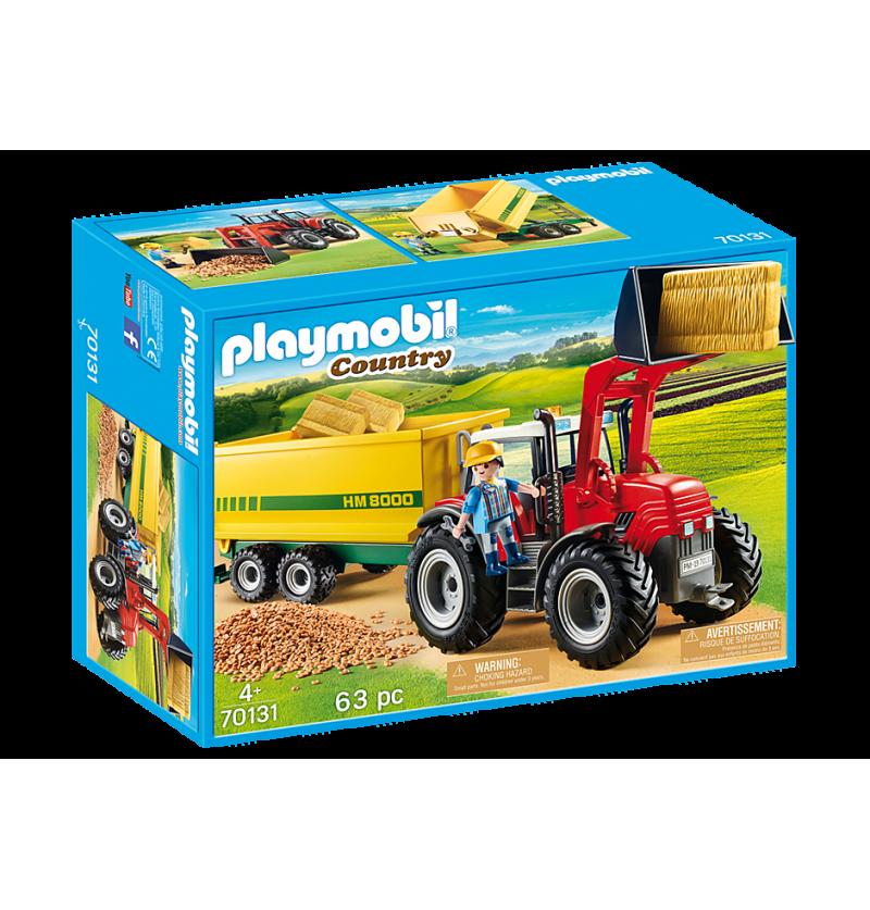 Playmobil 70131 Duży Traktor Z Przyczepką
