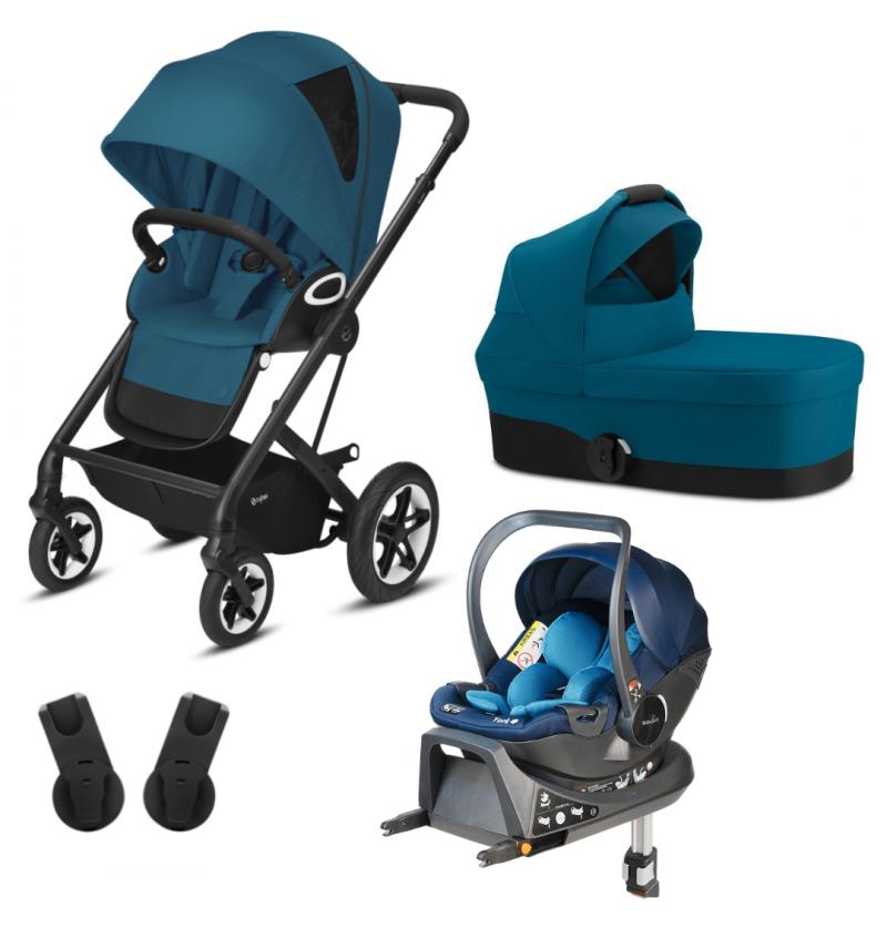 Cybex Talos S Lux 4w1 Wózek Wielofunkcyjny Czarna Rama + Fotelik Samochodowy Babysafe York + Baza Isofix