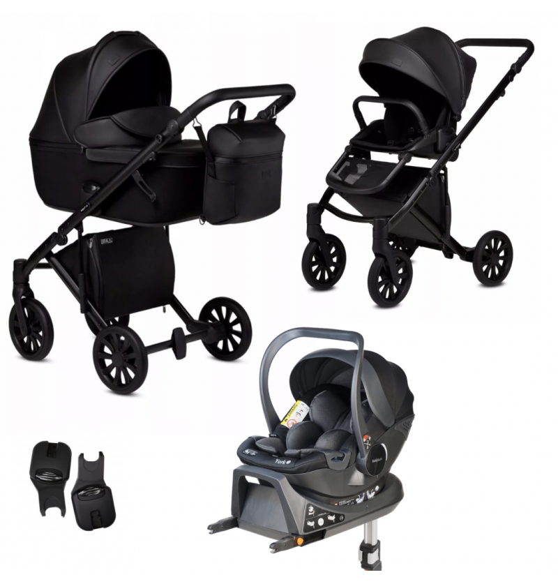 Anex E/Type Wózek Wielofunkcyjny 4w1 + Torba + Fotelik Samochodowy Babysafe York + Baza Isofix