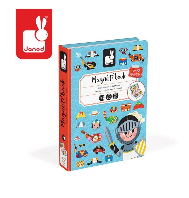 Janod J02719 Magnetik Book Układanka Kostiumy Chłopiec