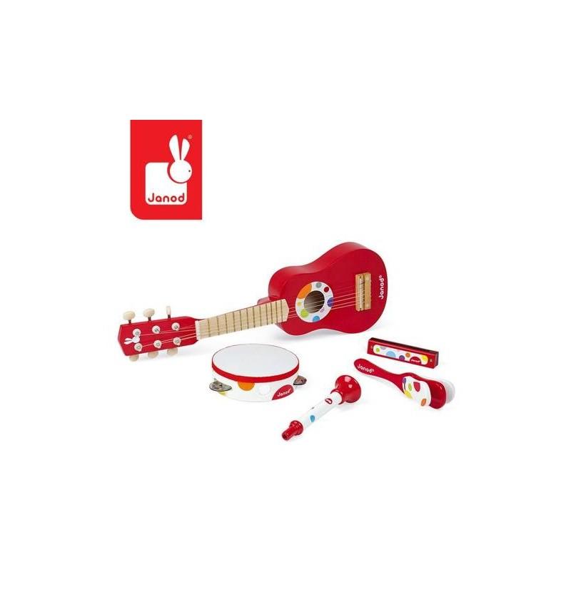 Janod J07626 Zestaw Zabawek Muzycznych Confetti