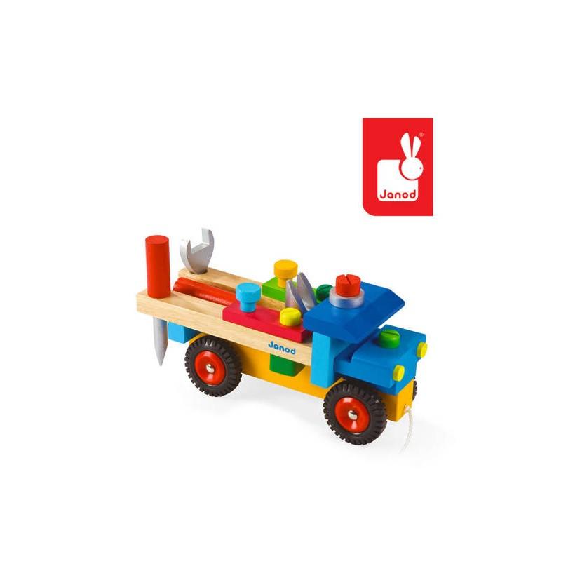 Janod J05022 Ciężarówka Do Składania Drewniana Duża
