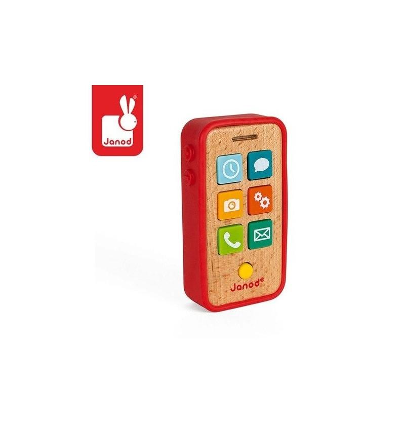 Janod J05334 Telefon Drewniany Z Dźwiękami
