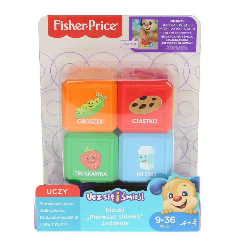 Fisher Price Klocki pierwsze słowa jedzenie FJP29