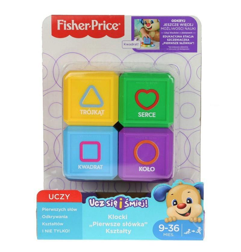 Fisher Price Klocki pierwsze słowa kształty FJP05
